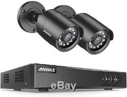 Annke 4 + 1ch 1080p Lite H. 264+ Hd Dvr Enregistreur Système Tvi Caméra Cctv Et 2x Avec