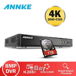 Annke 4k 8mp Dvr 8ch Cctv Enregistreur Vidéo Numérique Plein Canal Onvif Royaume-uni