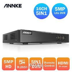 Annke Full Channel 8+2/16+2ch Dvr Recorder Remote For Home Security System Kit
