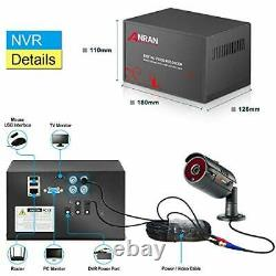 Anran 4 Channel 1080p Home Security Camera System/cctv Dvr Recorder, 1tb Hd