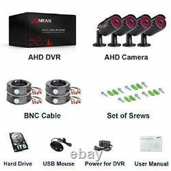 Anran Cctv Camera System 1080p Dvr Recorder With 1tb Hard Drive 4x Full Hd P2p