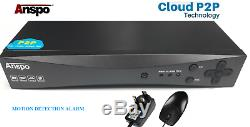 Anspo 8 Canaux 2tb Intelligent 1080n / 1080p Hd Cctv Dvr Enregistreur Vidéo Vga Hdmi Bnc
