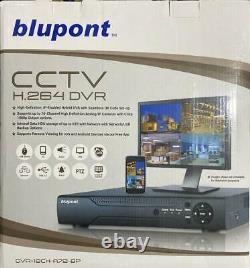 Blupont 16 Canaux Cctv Dvr Recorder 1080n H. 264 Ahd Hd 720p Vga Hdmi Bnc