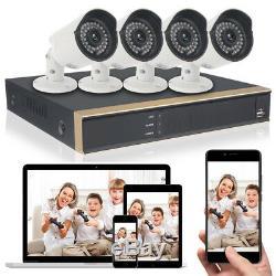 Caméra 4ch Hdmi 1080p Ahd Dvr Cctv Home Security Système 4outdoor