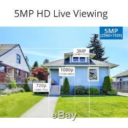 Camstro 5mp Cctv Système 5in1 Dvr Caméra De Sécurité Extérieure Kit Complet Ip66