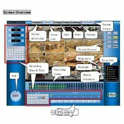 Carte Eversecu Cctv Dvr Capture 32ch En Temps Réel Record Dsp 960/960 Fps Live Pci E