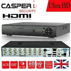 Casperi 16ch Cctv 5mp Dvr 1920p Enregistreur Vidéo De Sécurité Ultra Hd 4in1 Hdmi Bnc