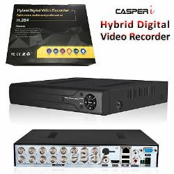 Casperi 4mp Cctv Dvr 16 Canaux Vga Hdmi 1440p Ahd Système Digital Video Recorder