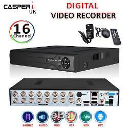 Casperi 4mp Dvr 16ch Channel Hd Cctv Système De Sécurité Enregistreur Vidéo Numérique