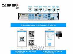Casperi Dvr 8ch 4.0mp 1440p H. 264 Système De Sécurité Cctv Enregistreur Vidéo Numérique