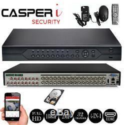 Casperi Full Hd 32 Canaux 2mp 1080p Cctv Dvr Hdmi Enregistreur Vidéo Numérique