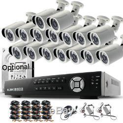 Cctv 16ch 8ch Dvr Kit Système De Caméras De Sécurité Pour La Maison En Plein Air Avec Enregistrement Hd 2.4mp 1080p