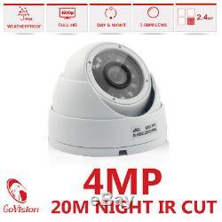 Cctv 4ch 4mp Hd Dvr Enregistrement 1440p Ir-cut Kit De Système De Caméra De Sécurité Domestique 4