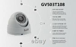 Cctv 4ch 8ch 1080p Dvr Recorder Caméras Air Outdoor Night Vision Security System Kit