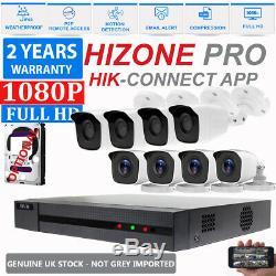 Cctv 4ch Dvr 8ch Enregistrement Hd 1080p Grand Angle Home Security Kit Système De Caméra