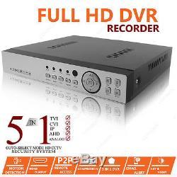 Cctv 4ch Hd Dvr Kit De Système De Sécurité Domestique Pour Caméra De Vision Nocturne D'enregistrement 1080p 2.4mp