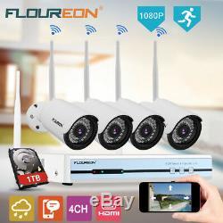 Cctv 4ch Sans Fil Wifi 1080p Nvr Dvr Système De Sécurité Caméra Enregistreur Vidéo Royaume-uni