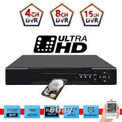 Cctv 5.0mp 4/8/16 Canal Ahd Hdmi Dvr 1920p Uhd Digital Video Recorder Mobile