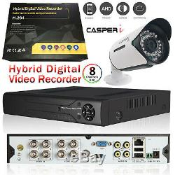 Cctv 8ch Hdmi Dvr Système De Balle De Vision Nocturne De Plein Air Camera Kit Complet Led Ir