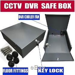 Cctv Coffre-fort Pour La Boîte Verrouillable De Matal De Sécurité D'enregistreur De Dvr Avec La Fan 15x15x5