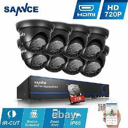Cctv Dvr 16 Canal 1080n/1080p Caméras Enregistreur Vidéo 2 To Hard Drive Monitor