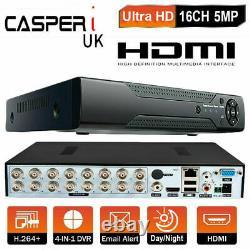 Cctv Dvr 16 Channel 5mp 4k Digital Video Recorder Vga Hdmi Bnc Ultra Hd 1920p