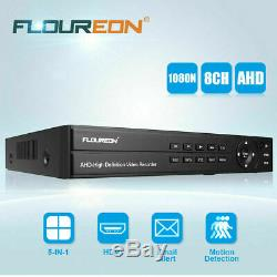 Cctv Dvr Floureon Intelligent 8 Canaux Ahd 1080n Enregistreur Vidéo Hdmi Vga Bnc P2p