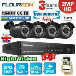 Cctv H. 264 Enregistreur Dvr 1080p 8ch Outdoor Home Surveillance Camera Kit