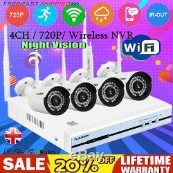 Cctv Sans Fil 4ch Dvr 1080n Nvr Enregistrement 720p Accueil Extérieur Sécurité Caméra Ip Wifi