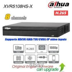 Dahua Xvr5108hs-x 8ch Hybride Xvr Dvr 5in1 H. 265 Enregistreur Vidéo Pour Le Système De Vidéosurveillance