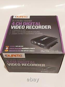 Durite 0-776-80 Enregistreur Dvr 4 Canaux Cctv Avec Capteur Gps Et G 2168949