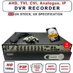 Dvr Enregistreur Hybrides Ahd Ip Analogique Hd 1080p Tvi Caméras 4 8 16 Canaux Caractéristiques Du Royaume-uni