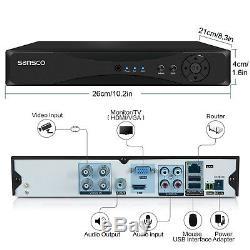 Enregistreur 4ch 1080p Dvr Avec 4 Systèmes De Vidéosurveillance De La Caméra De Sécurité Infrarouge Extérieure À La Maison Hd 2mp