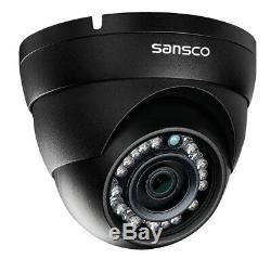 Enregistreur 4ch Dvr Avec Le Système 1tb De Système De Sécurité De Caméra De Télévision En Circuit Fermé De 1080p Imperméable En Métal