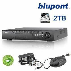 Enregistreur Cctv 8 Canaux Blupont 8 To 8ch H. 264 Ahd Hd 720p Vga Hdmi Bnc