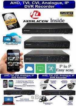 Enregistreur Cctv Dvr 4, 8,16 Ch Hdmi 1080p Hybrid Hd 4, 8 & 16 Entrées Audio Bnc