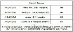Enregistreur Cctv Dvr 4/8 Canal 1080n Hdmi/vga Hd 5in1 Pour Home Secutiy System Kit
