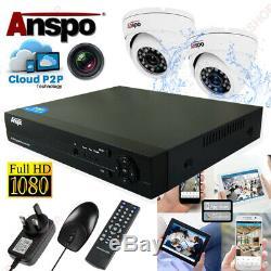 Enregistreur Cctv Dvr Full Hd + Kit De Système Dvr Pour Appareil Photo 2mp Intérieur / Extérieur 2 X 1080p