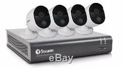 Enregistreur Cctv Swann 845804 8 Voies 2mp Hd 1080p & 4 Caméras De Détection Thermique 1 To