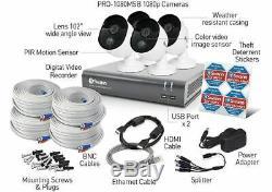 Enregistreur De Vidéosurveillance Swann Dvr-4575 4 Voies 2mp Hd 1080p & 4 Caméras De Détection Thermique 1 To
