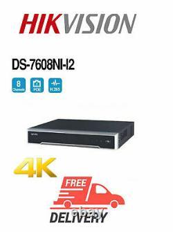 Enregistreur Hikvision Ds-7608ni-i2 8-ch 1u 4k Nvr 1 Hdmi Et 1 Vga