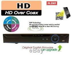 Enregistreur Vidéo Cctv 1080p Hybride Nvr Ahd Tvi Cvr Dvr 5 En 1