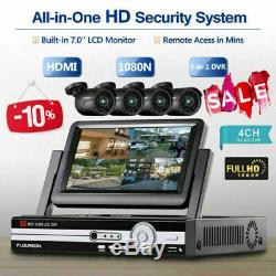 Enregistreur Vidéo Du Moniteur 7 LCD Avec Le Système De Sécurité 7 De La Caméra De Vidéosurveillance Extérieure 4ch 1080p Cctv