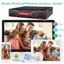 Enregistreur Vidéo Intelligent Cctv Dvr 4/8/16 Canaux Ahd 1080p P2p Hd 720p Vga Hdmi Bnc