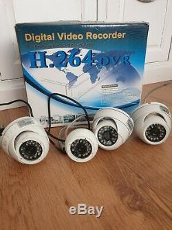 Enregistreur Vidéo Réseau Cctv Dvr 4 Canaux Caméra D1 H264 1 To