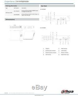 Ez-ip 5mp Dvr 4 Canaux 8 Canaux 16ch Cctv Recorder 1080p Hdmi Powered By Dahua CVI Tvi Ahd