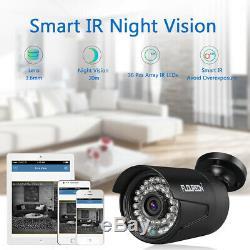 Floureon 1080n 8ch Dvr 4x3000tvl Caméra Cctv Système De Sécurité Extérieur