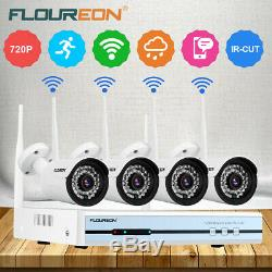 Floureon 4ch Sans Fil Wifi 1080p Cctv Nvr Dvr Camera Security System Ip