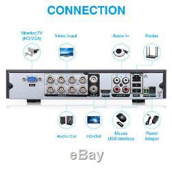 Floureon 8ch Cctv Security Dvr Enregistreur 1500tvl Système De Surveillance Extérieur Pour La Maison