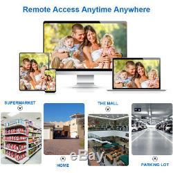 Floureon 8ch Hd Cctv 1080p Dvr Enregistrement 3000tvl Système De Sécurité Extérieur Pour La Maison